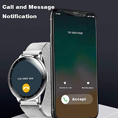 AIWATCH Smart Watch 2020 Version for Men Women Sleep Tracking Analysis Fitness Tracker Blood Pressure Monitor Heart Rate Monitor IP68 Waterproof Compatible with iPhone Samsung Android Phones (Black) 51WPz5ar49L