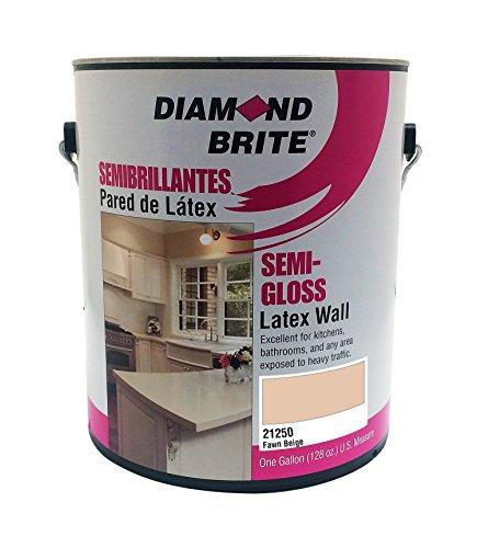 Diamond Brite Paint 21250 1-Gallon Semi Gloss Latex Paint Fawn Beige