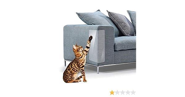 FOONEE Protector de Garra para Gatos, 2 Unidades, Transparente, de Alta Calidad, Resistente, Flexible, para Proteger Tus Muebles, Gatos y arañazos.
