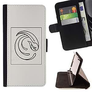 BullDog Case - FOR/Samsung Galaxy Core Prime / - / ABSTRACT FEATHER GREY POSTER VORTEX /- Monedero de cuero de la PU Llevar cubierta de la caja con el ID Credit Card Slots Flip funda de cuer