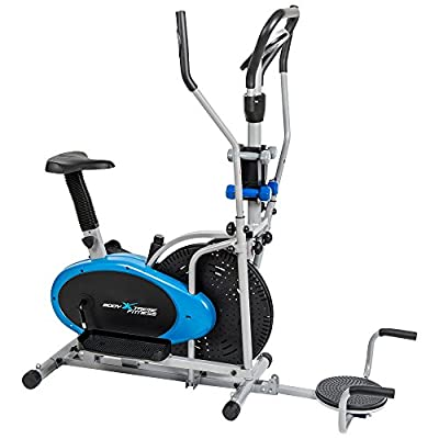 Body Xtreme Fitness 6-in-1 Elliptical Trainer Exercise Bike, Home Gym Equipment, Push Up Bars, Ab-Twister, Hand weights, Resistance Bands, Pulse Sensors, BONUS COOLING TOWEL ~ ON SALE!
