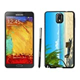 Armor Protective Case for Galaxy Note 3 Case,Samsung Galaxy Note 3 Protective S View Coer Protective Case Chairs on Beach W Palmtrees Samsung Galaxy Note 3 Case Black Cover