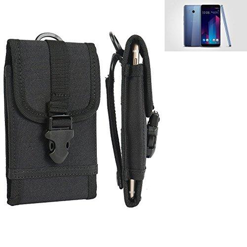 bolsa del cinturón / funda para HTC U11+, negro | caja del teléfono cubierta protectora bolso - K-S-Trade (TM)
