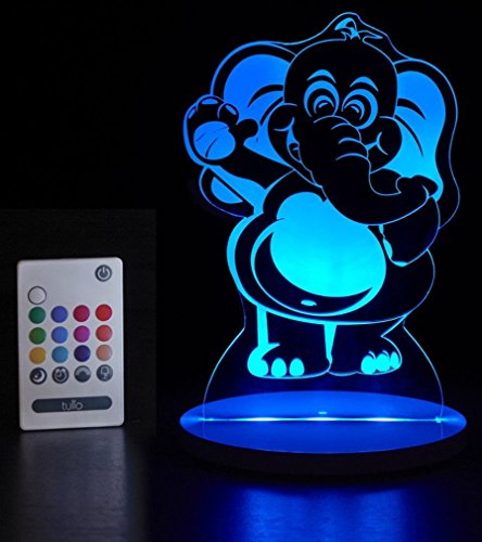 Tulio Dream Lights High-Five Elephant Multi-Use, Multi-Color Night Light (Baby Lamp Zoo)
