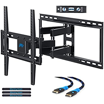 Mounting Dream MD2380-24 TV Wall Mount Bracket with Full Motion Articulating Arms for most 26-55'' LED, LCD, OLED and Plasma TVs up to VESA 400 x 400mm and 99 lbs. Fits 16'', 18'', 24'' wood studs.