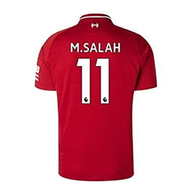 49b7f2f73c8  11 M Salah Liverpool Home Soccer Jersey 2018-2019 Mens Sccer Jersey Red (