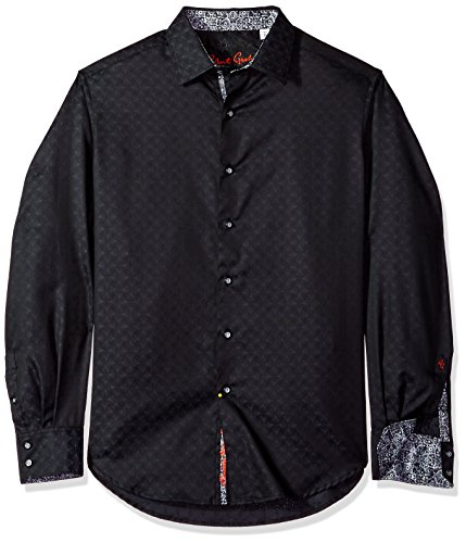 Robert Graham Men's Diamante Long Sleeve Shirt, Black Large from Robert Graham