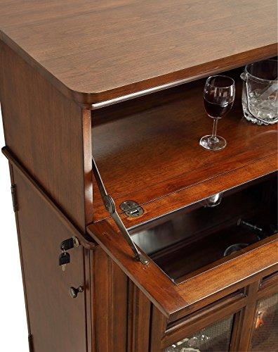 Superior Pulaski Jensen Bar Cabinet, Espresso Brown