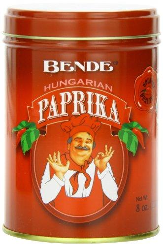 Paprika Tin - Bende Hungarian Paprika Hungarian Sweet Paprika, 8 Ounce Tin