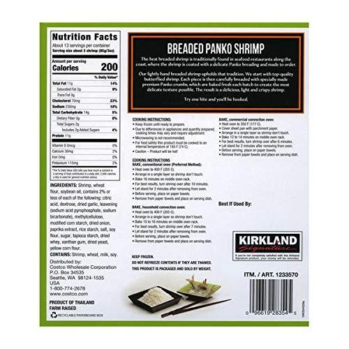 Kirkland Signature Expect More Breaded Panko Shrimp, 2.5 lbs