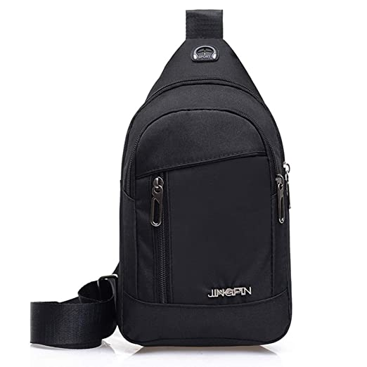 d80db0461e7c Rakkiss Men Chest Bag Fashion Oxford Cloth Crossbody Bag Zipper Pocket One  Shoulder Bag Daily Sports Pocket Bag