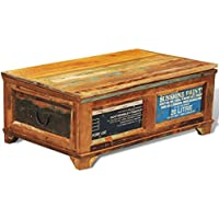 vidaXL Coffee Table Storage Wood Trunk Furniture Living Room Rustic Reclaimed Weathered