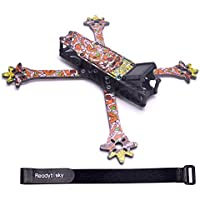 Readytosky 235mm FPV Racing Drone Frame 3k Full Carbon Fiber Quadcopter Frame Kit 4mm Removable Arms with 20cm Lipo Battery Strap