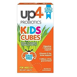 up4 Kids Cubes Probiotic Supplement | Digestive + Immune Support | Vitamin D for Bone Support* | 1 Billion CFUs