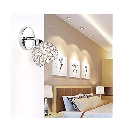 cheap Lightess Modern Crystal Bath Wall Sconce Lighting Fixture Chrome Finished Up and Down Lamp, Sliver