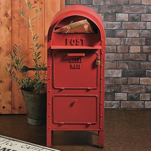 郵便ポスト スタンドポスト アメリカンポストレッド セトクラフト SI-2857-RD-3000 B01M5DY3CW 23800