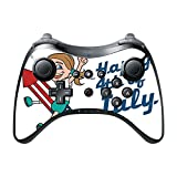 Happy 4th of July Quote Cute Girl on Firework American Flag Image Design Pattern Wii U Pro Controller Vinyl Decal Sticker Skin by Trendy Accessories