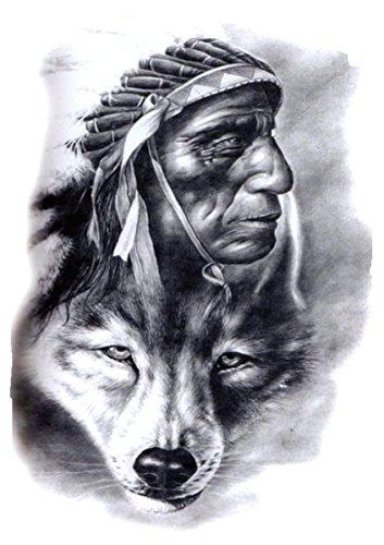 spiritual animal wolf American native large 8.25