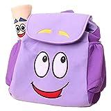 Dora Explorer Backpack Rescue Bag with MapPre-Kindergarten Dora Backpack Purple Wen FEIYU