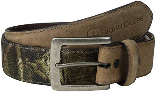 John Deere Men's Camouflage Belt Leather Tabs, Brown/Camo...
