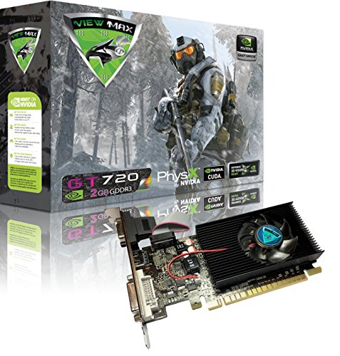 ViewMax NVIDIA GeForce GT 720 2GB GDDR3 PCI Express (PCIe) DVI Video Card HDMI & HDCP Support - Product code name AIR STRIKE F-16 FIGHTING FALCON EDITION