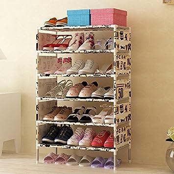 Luffar 7 Tire Shoe Storage Cabinet Large Capacity Shoe Rack Organizer With  Non Woven