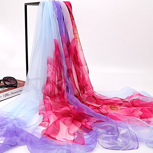 - SED Scarf-Female Summer All-Match Thin Long Silk Chiffon Scarf Shawl Scarves Sunscreen Imitation Cashmere Scarf Female Autumn and Winter Korean Students Knitted Shawl Long,Rose Saffron