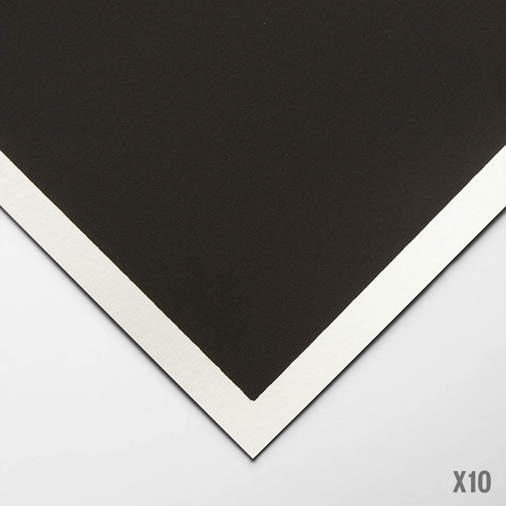 Colourfix Original Deep Black Art Spectrum A3 Pastel Paper Pack of 10