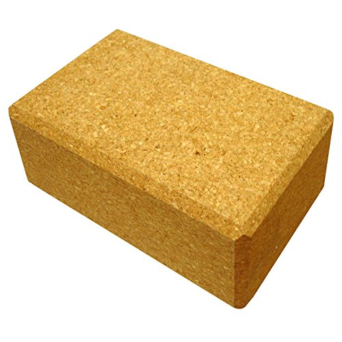 "YogaAccessories Eco-Friendly All Natural Cork Yoga Block - 4"" x 6"" x 9"""