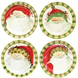 Vietri Old St. Nick Assorted Dinner Plates Set of 4 - 10.75''