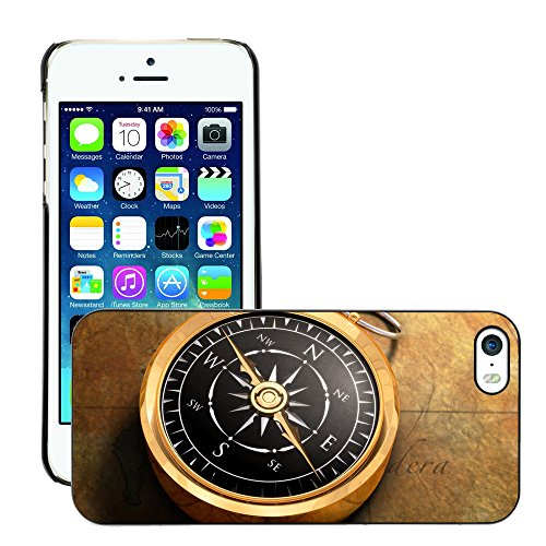 Premio Sottile Slim Cassa Custodia Case Cover Shell // V00001981 Compass Map // Apple iPhone 5 5S 5G