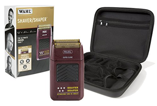 (Wahl Professional 5-Star Series Rechargeable Shaver/Shaper #8061-100 with Travel Storage Case #90731 Great for Barbers and Stylists)