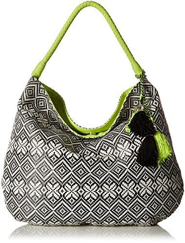 Jessica Simpson Martine Hobo - Black/White Geo Straw/Lime...