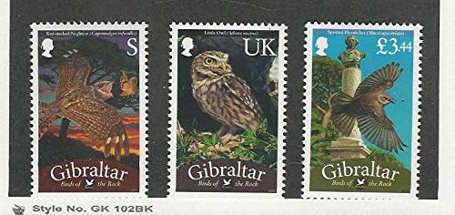 Gibraltar, Postage Stamp, 1326-1328 Mint NH, 2012 Owls, ()