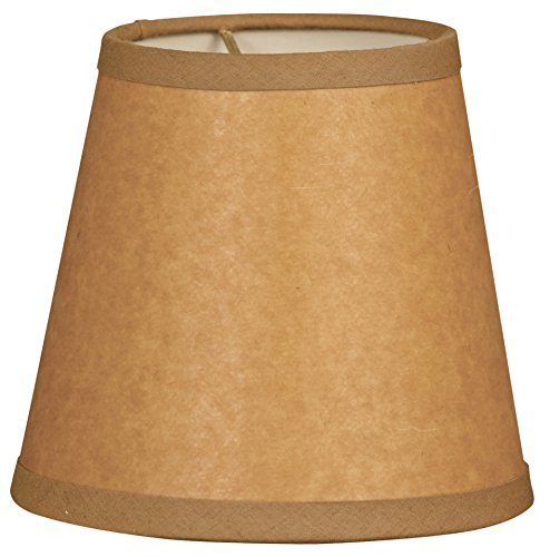 Royal Designs CS-952-6BR/P Parchment Empire Brown Chandelier Lamp Shade, Brown