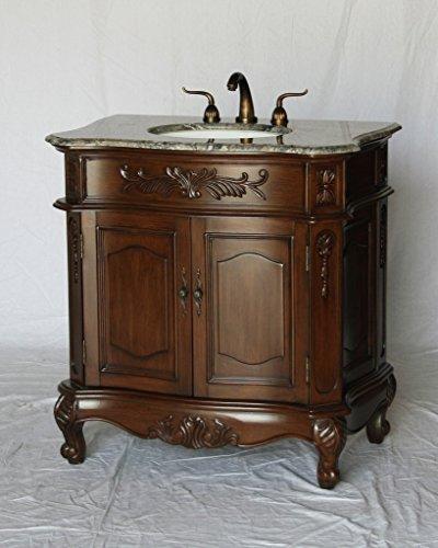 34-Inch Antique Style Single Sink Bathroom Vanity Model 2883-34 GY - Single Antique Vanity