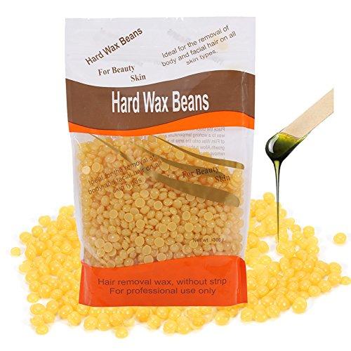 Hard Wax Beans, 300g/Bag Beauty Salon Depilatory Dedicated Hard Wax Bean Waxing Hair Removal (Banana)