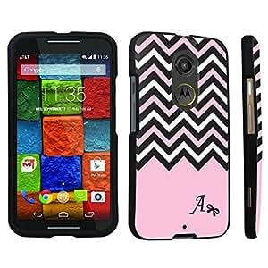 DuroCase ? Motorola Moto X 2nd Gen. 2014 Hard Case Black - (Black Pink White Chevron A)