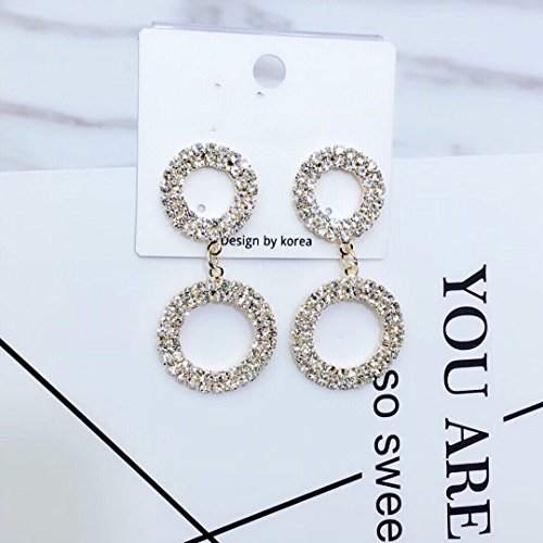 Cluster Museum (usongs Home Museum elegant luxury sparkling diamond ring size fashion exquisite earrings earrings)
