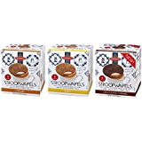 Daelmans Stroopwafels Wafers Variety Pack (Caramel, Honey, Chocolate) Jumbo Size (Pack of 3)