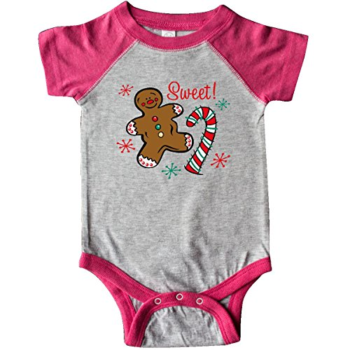 - inktastic - Christmas Sweet Infant Creeper 24 Months Heather and Hot Pink 2dcb2