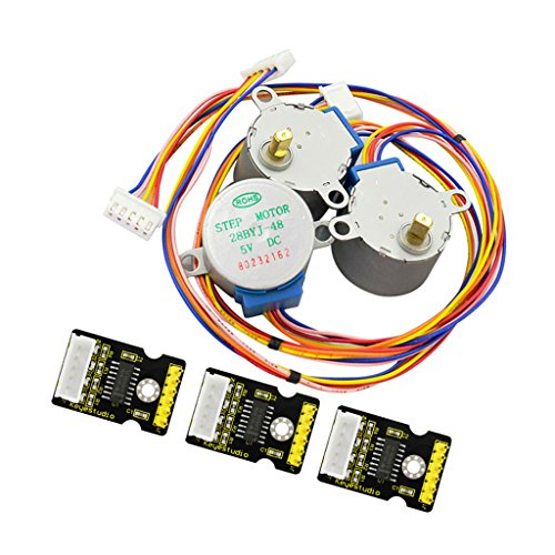 MagiDeal 3Pieces DC 5V 5 Line 4 Phase Stepper Motor 28BYJ-48 W Drive Module ULN2003 by non-brand