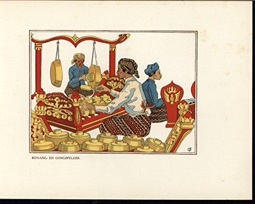 Constructing Gongs Manipulating Metal c.1915 Java Indonesia culture color - Gong Java