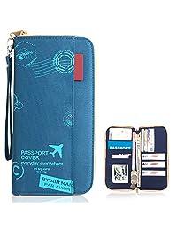 Travel Passport Wallet,Document Organizer Holder Cover Wallet Card Case for Men and Women
