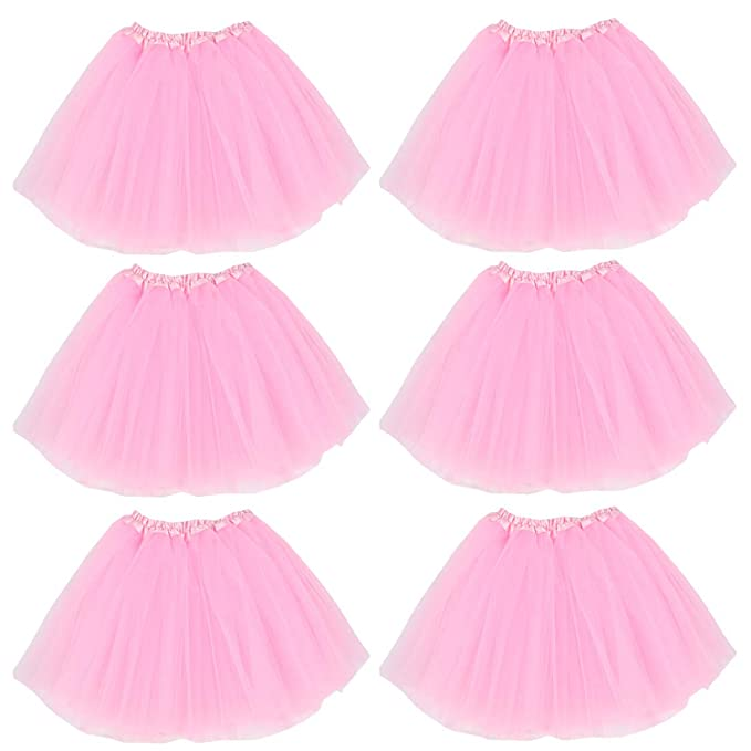 a2d85f7fd0853 kilofly 6pc Girls Ballet Tutu Kids Birthday Princess Party Favor Dress  Skirt Set