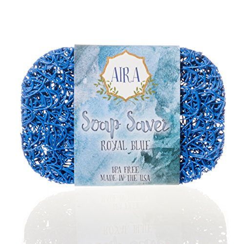 Aira Soap Saver BPA Free Recyclable Soap Lift, Royal (Flow Blue Dishes)