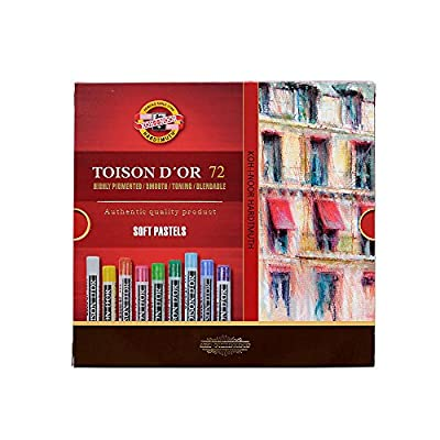 Koh-I-Noor TOISON D'OR Soft Pastels, 72 Assorted Stick Set