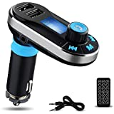 i-SUPERSIM Wireless Multifunctional In-Car Bluetooth Handsfree Calling Car Kit with Dual USB Car Charger and FM Transmitter for iPhone, Android Smartphone Tablets and MP3 Players