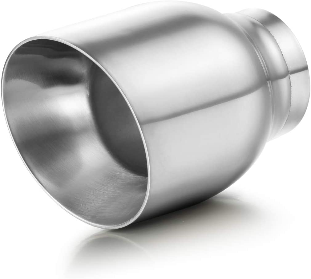 """Muffler Tip 3/"""" Inlet 4/"""" Outlet 5/"""" Long Dual Wall Universal Car Tailpipe Stainless Steel Polished Weld On A-KARCK Exhaust Tip 3 Inch Inlet"""