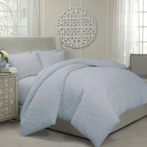 Vue 13811BEDDKNGPRW Barcelona 104-Inch by 90-Inch Quilted Coverlet and Duvet King Ensemble, (King Duvet Ensemble)